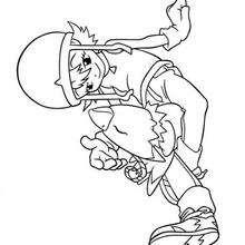 Desenho para colorir online da Sora e do Biyomon