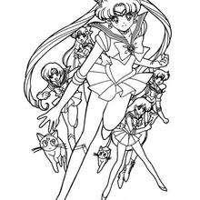 A equipe das guerreiras Sailor