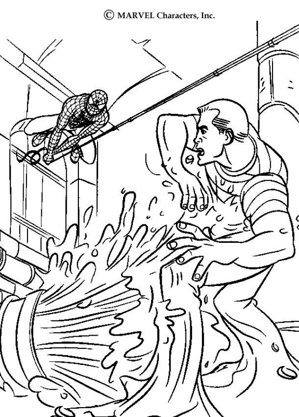 Desenhos Para Colorir De O Homem Aranha Atacando O Homem