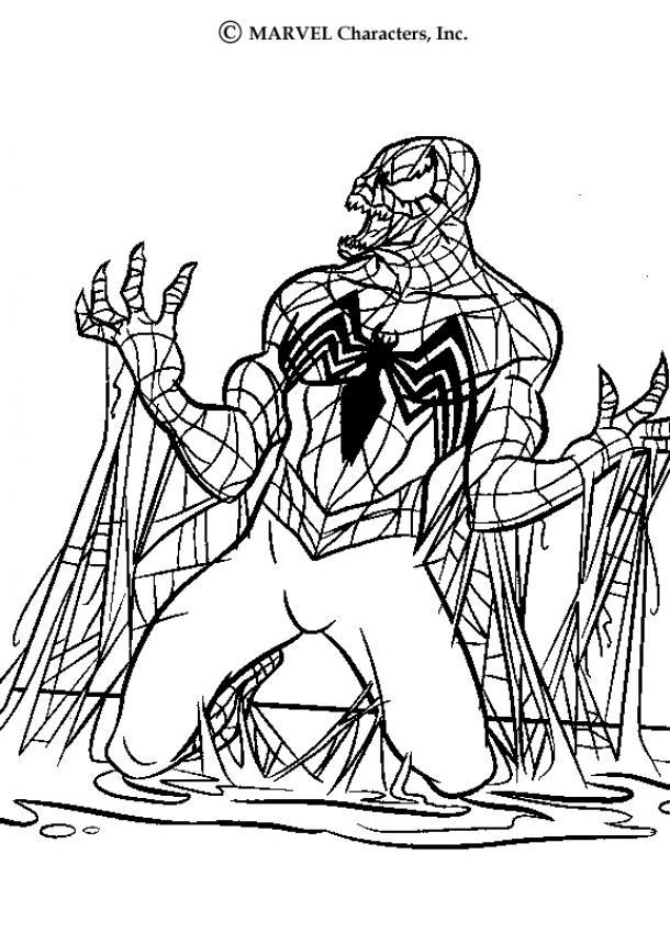 Desenhos Para Colorir De Venom Pt Hellokids Com