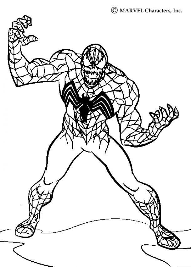 Desenhos para colorir de venom -pt.hellokids.com