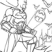 Desenho do Batman com morcegos