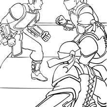 Desenho do Bruce Wayne com seus inimigos para colorir