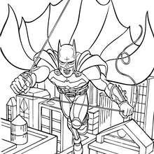 Desenho do Batman voando para colorir