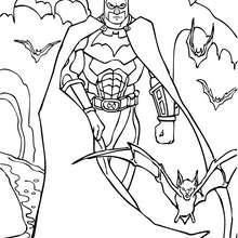 Desenho do Batman com sua armadura para colorir