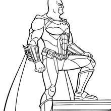 Desenho do Batman, o super-poderoso para colorir