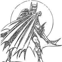 Desenho do Batman em ação para colorir