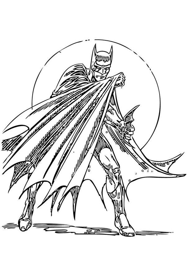 desenhos para colorir de desenho do batman em a u00e7 u00e3o para