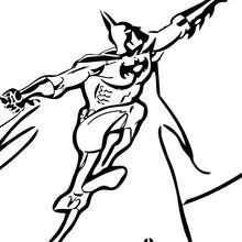 Desenho do Batman escalando para colorir