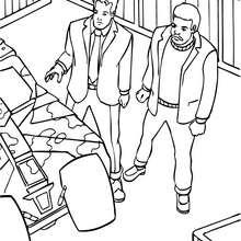 Desenho do Bruce Wayne com um amigi para pintar