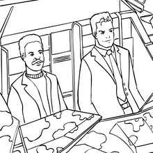 Desenho do Bruce Wayne com o seu amigo para colorir