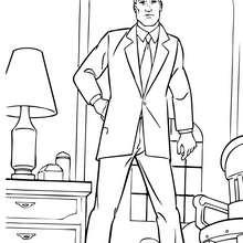 Desenho do Bruce Wayne na sua casa para colorir