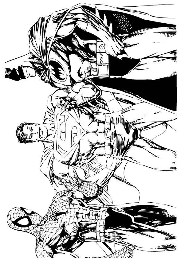 Batman, Homem-Aranha e Super-homem