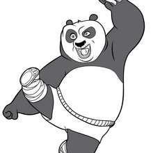 O Panda Kung Fu atacando