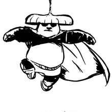 Po, o herói do Kung Fu voando