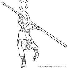 Desenho do Mestre Macaco pronto pro ataque para colorir
