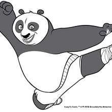 Kung Fu Panda na posição de ataque
