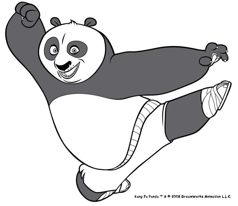 Desenhos Para Colorir De Kung Fu Panda Na Posicao De Ataque Pt