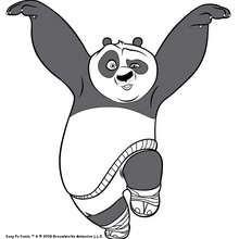 Po, o kung fu panda dançando