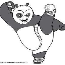 Po, o herói do Kung Fu para colorir