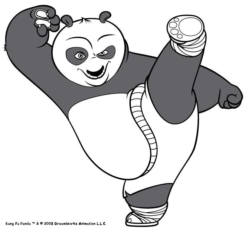Desenhos Para Colorir De Po, O Herói Do Kung Fu Para