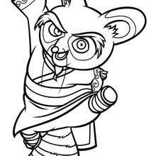 Desenho do Mestre Shifu para colorir