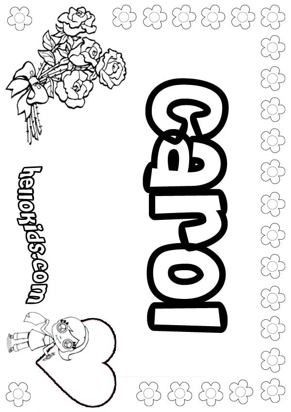 desenhos para colorir de carol