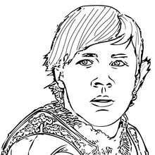 Desenho do Edmundo Pevensie para colorir