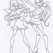 Bloom e Stella as fadas do Clube das Winx