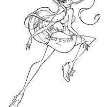 Desenho da princesa Stella para colorir