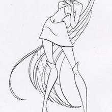 Desenho da bruxa Icy para colorir
