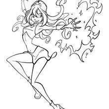 A Winx Bloom com o seu poder mágico