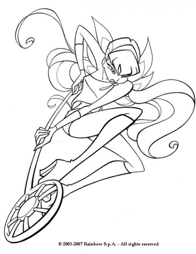desenhos para colorir de desenho da princesa winx stella para
