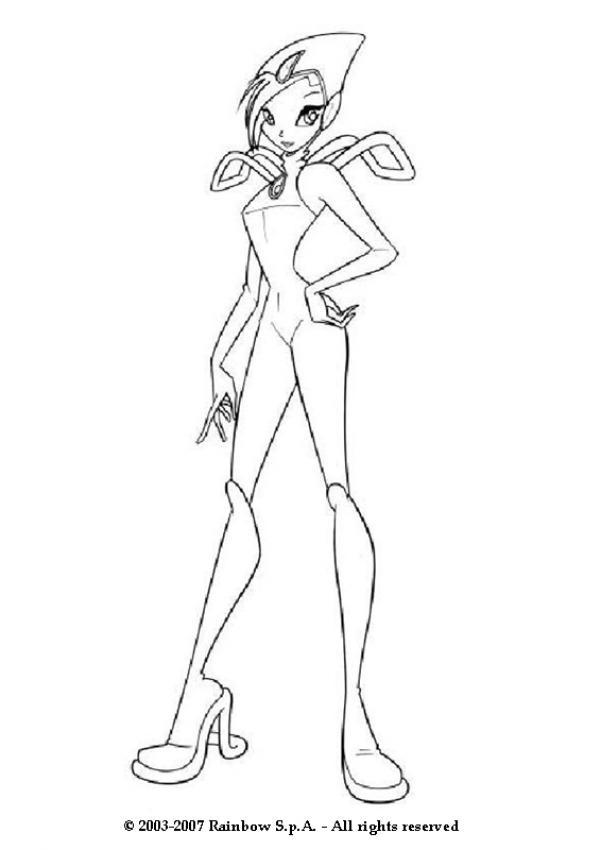 Tecna com seu vestido de fada