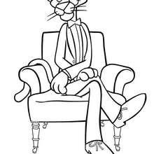 A Pantera Cor-de-Rosa no sofá