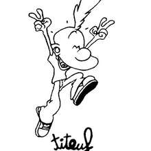 felicidade, Desenho do Titeuf feliz