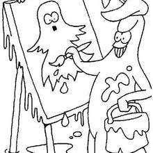 Quadro de um fantasma para colorir
