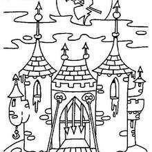 Castelo mal assombrado no Dia das Bruxas