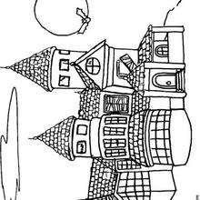 Desenhos Para Colorir De Castelo Mal Assombrado No Dia Das Bruxas