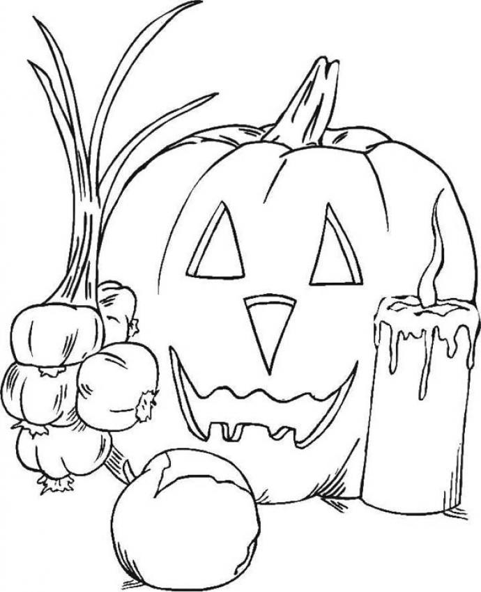 Desenhos Para Colorir De Desenho De Uma Abobora Do Dia Das Bruxas