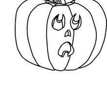 Desenho de uma abóbora do Dia das Bruxas para colorir
