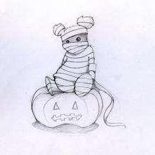 Ursinho de pelúcia do Halloween