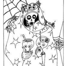 Esqueleto horripilante do Dia das Bruxas