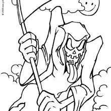 Desenhos Para Colorir De A Morte Assustadora Do Dia Das Bruxas Pt