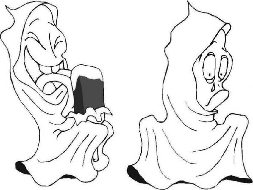 Desenhos Para Colorir De Desenho De Fantasmas Divertidos