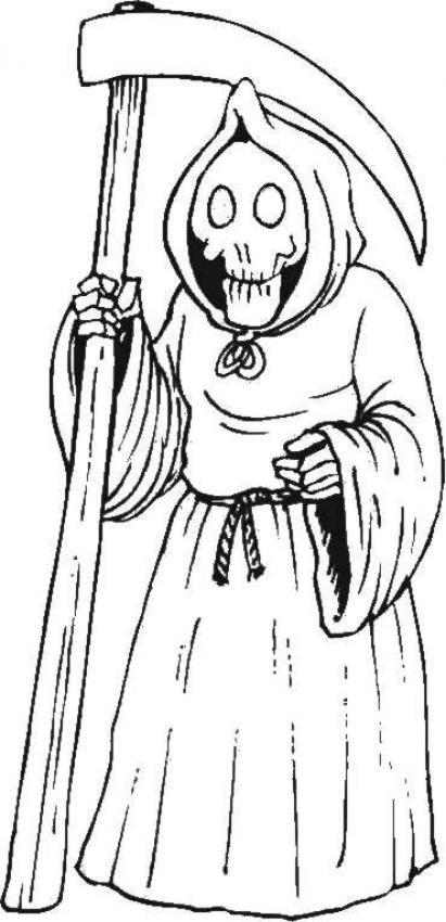 Desenho da Dona Morte para colorir