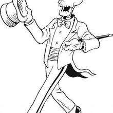 Desenho de um esqueleto bem vestido para colorir