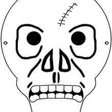 Máscara de esqueleto do Dia das Bruxas