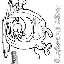 Desenho de uma abóbora para colorir