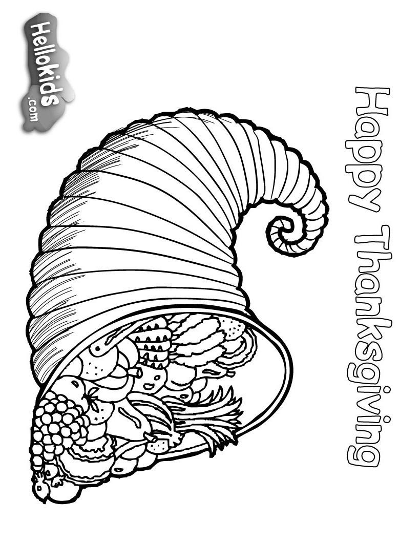 Desenho de uma cornucópia, o símbolo da abundância